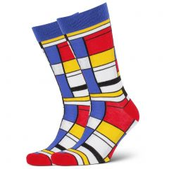 Mitch Dowd Composition Mondrian Crew Socks XMDM778 Multi Mens Socks