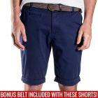Mossimo David Chino Shorts with Free Belt 0M5199 Submarine Mens Pants