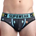 Supawear Sprint Brief U22SP Black Thunder Mens Underwear