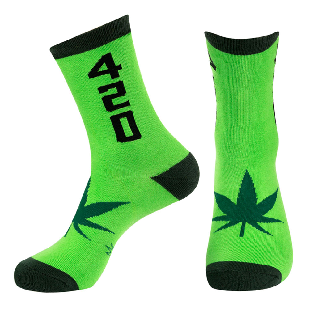 Gumball Poodle 420 Crew Socks Green/Black