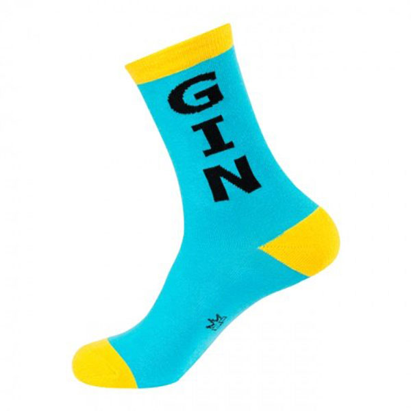 Gumball Poodle Gin Crew Socks Blue/Yellow