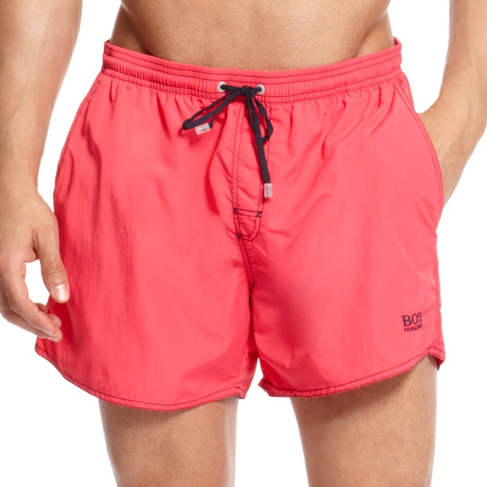 Hugo Boss Lobster Swimwear Board Shorts 50223665 Pink