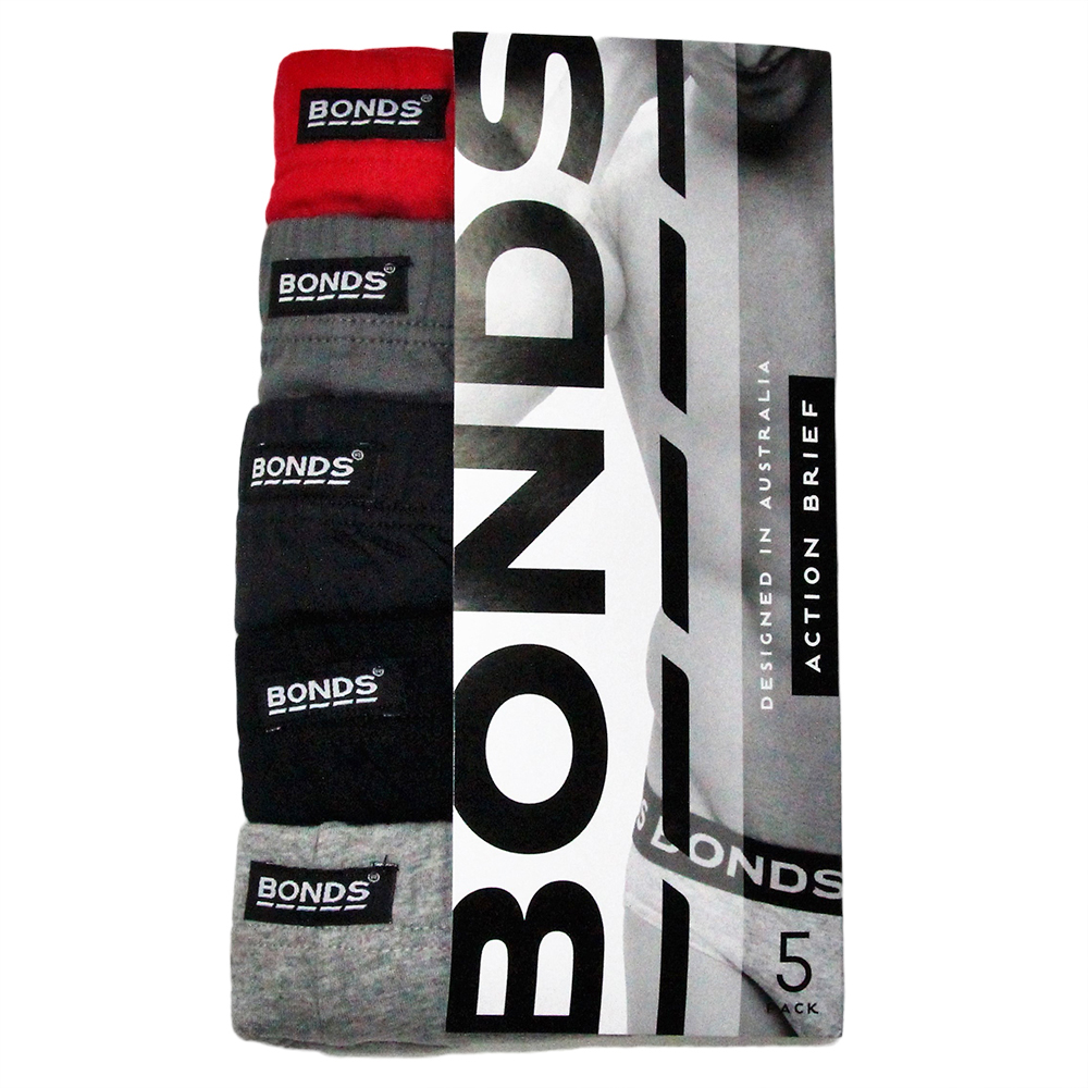 Bonds Mens Action Brief 5 pack M8OS5I Multi