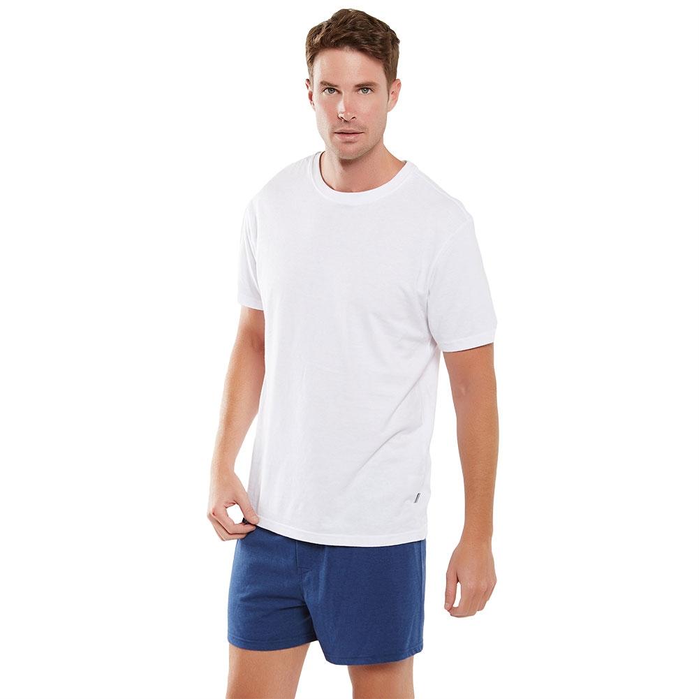Coast Mens Knit Boxer Short MCBS2380 Navy Marle