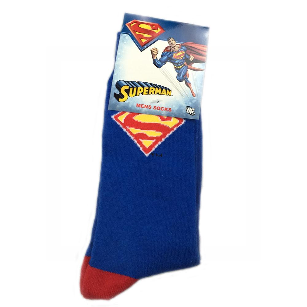 DC Comics Superman Socks Blue