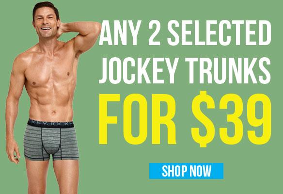 Any 2 Selected Jockey Trunks for $39