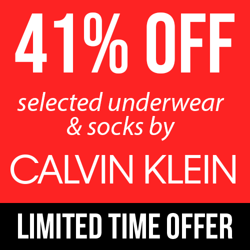 41% Off Selected Calvin Klein Underwear and Socks