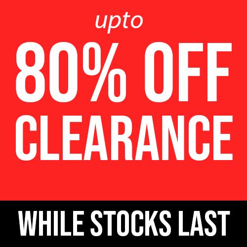 Upto 80% Off Clearance Stock