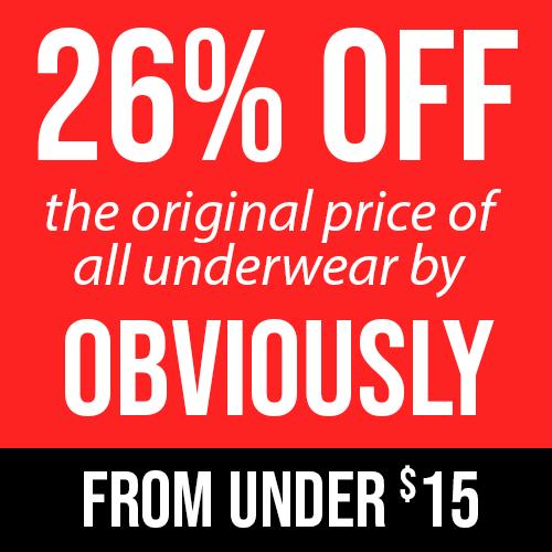 26% Off Obviously Mens Underwear