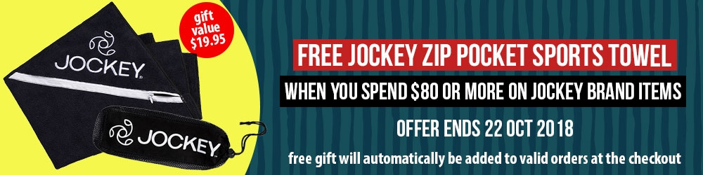 Free Jockey Sports Towel Promotion