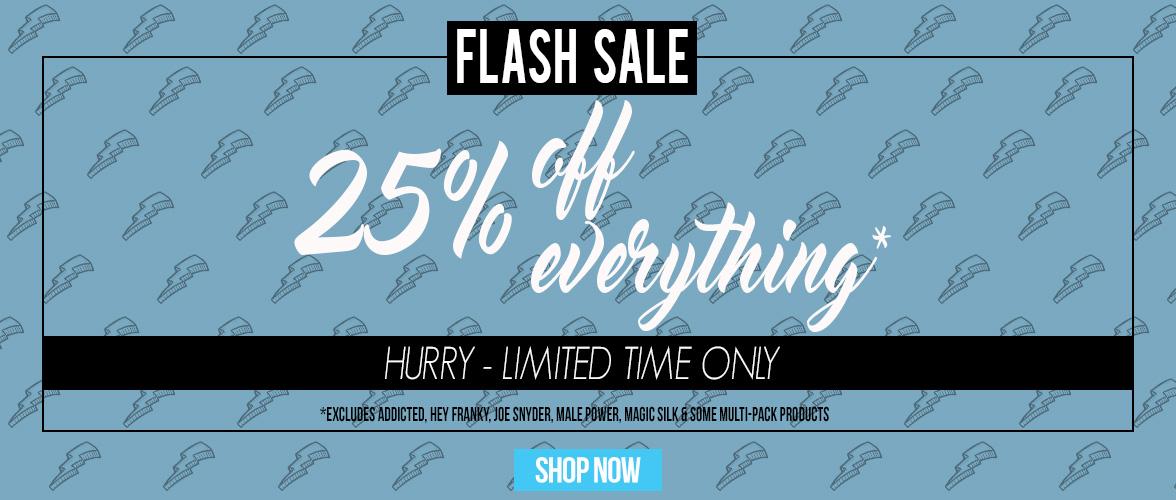 25% Off Flash Sale
