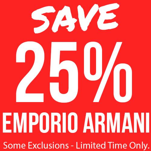 25% Off Selected Emporio Armani