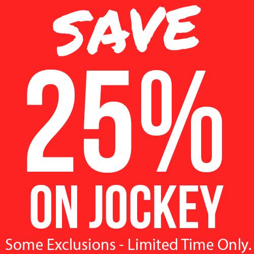 25% Off Selected Jockey Items