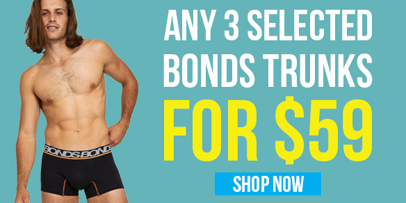 3 Bonds Trunks for $59 Offer