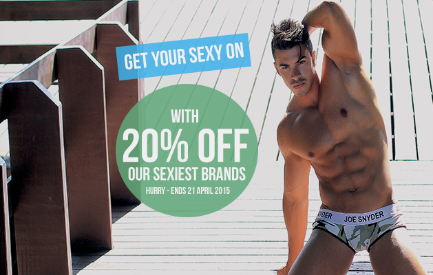 20% Off Joe Snyder, Male Power & Cocksox Mens Underwear