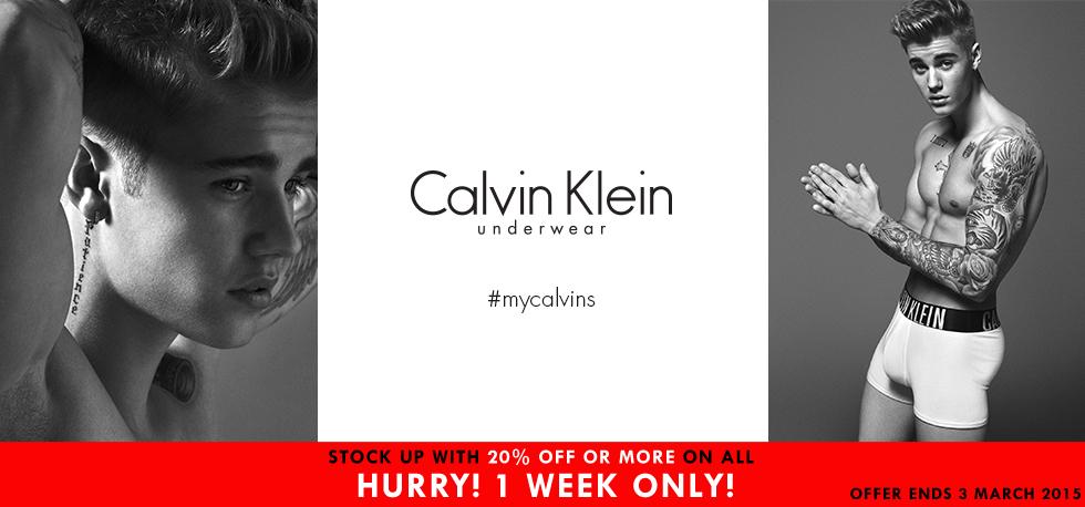 20% Off Calvin Klein Men's Underwear