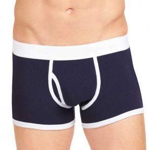 HK Man Cotton Low-Rise Mens Trunk Peacoat K49-133