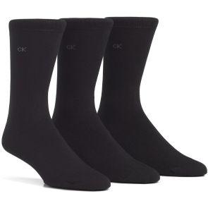 Calvin Klein Mens Eric Cotton Dress Socks 3 Pack E91219 Black