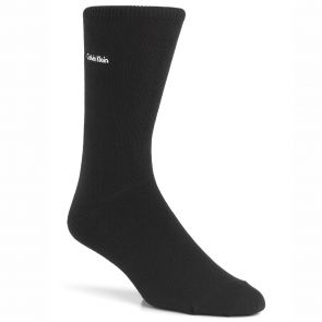 Calvin Klein Mens Brendon Signature Jean Crew Socks ECG215 Black