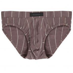 Heidi Klum Man High Tech Cotton Mens Brief K46-122 Charcoal Grey Stripe